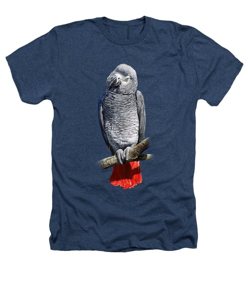 African Grey Parrot C Heathers T-Shirt by Owen Bell