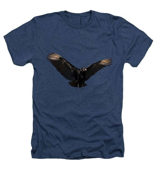 American Black Vulture Heathers T-Shirt by Zina Stromberg