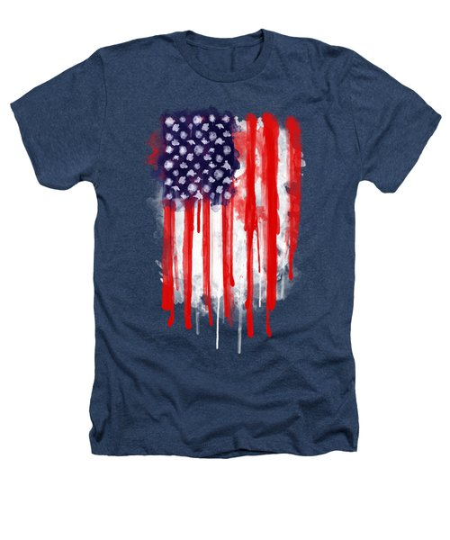 American Spatter Flag Heathers T-Shirt by Nicklas Gustafsson