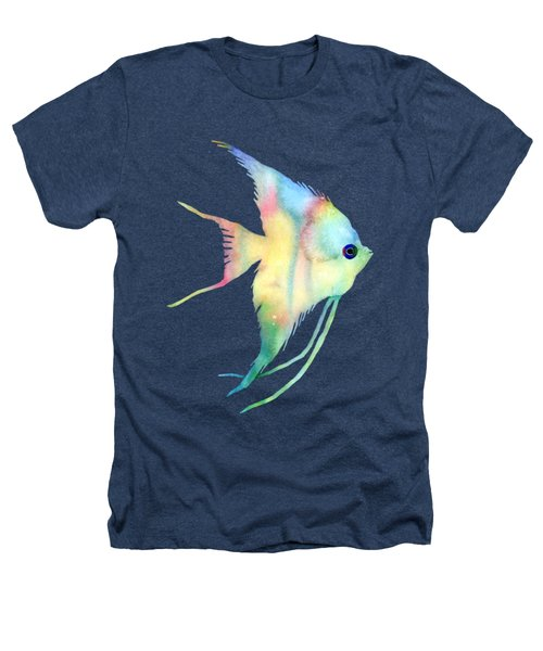 Angelfish I - Solid Background Heathers T-Shirt by Hailey E Herrera