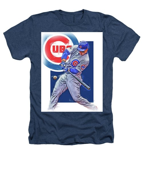 Anthony Rizzo Chicago Cubs Oil Art Heathers T-Shirt