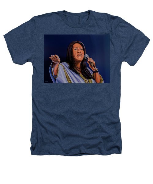 Aretha Franklin Painting Heathers T-Shirt by Paul Meijering