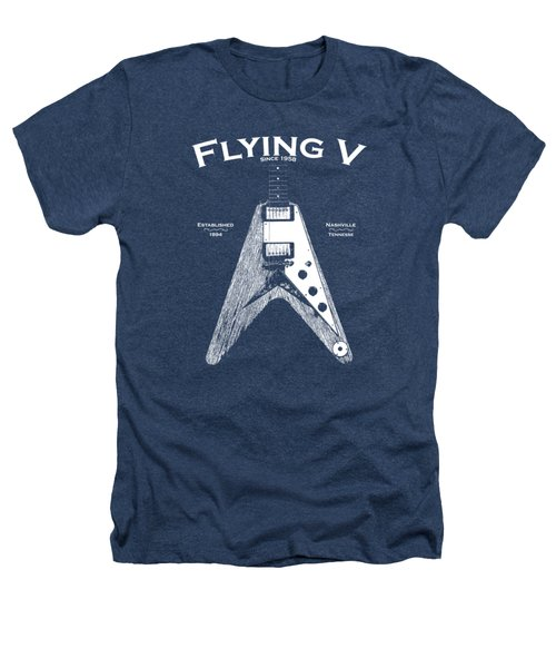 Gibson Flying V Heathers T-Shirt by Mark Rogan