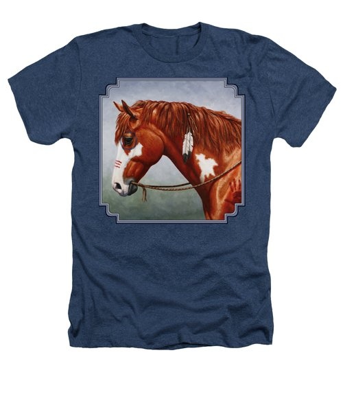 Native American War Horse Heathers T-Shirt by Crista Forest