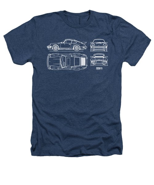 The 911 Turbo Blueprint Heathers T-Shirt
