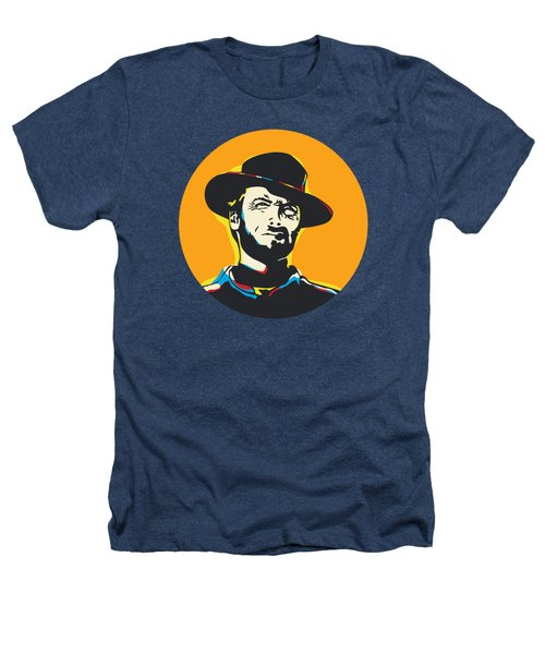 Clint Eastwood Pop Art Portrait Heathers T-Shirt
