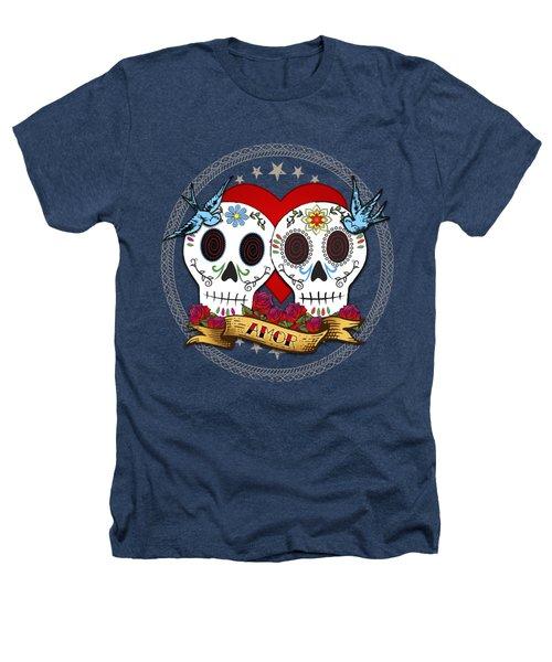 Love Skulls II Heathers T-Shirt by Tammy Wetzel