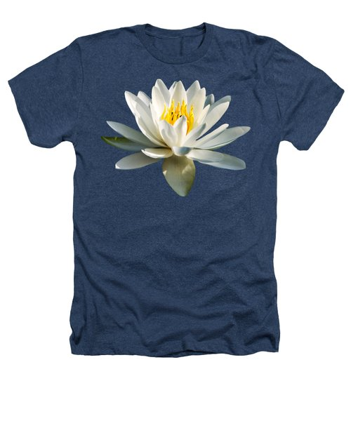 White Water Lily Heathers T-Shirt by Christina Rollo