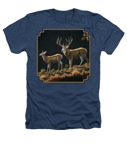 Mule Deer Ridge Heathers T-Shirt by Crista Forest