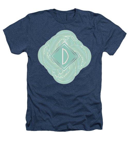 1920s Blue Deco Jazz Swing Monogram ...letter D Heathers T-Shirt