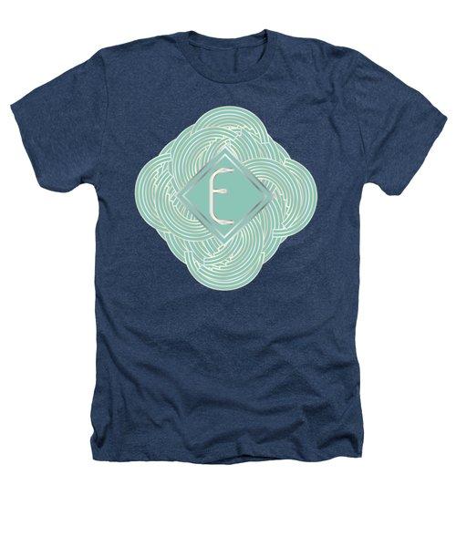 1920s Blue Deco Jazz Swing Monogram ...letter E Heathers T-Shirt