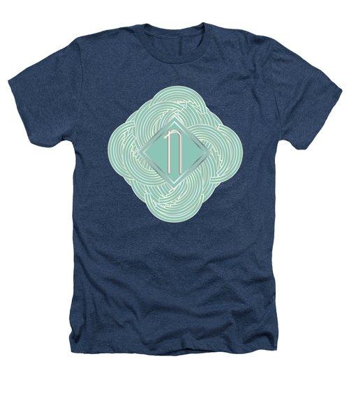 1920s Blue Deco Jazz Swing Monogram ...letter N Heathers T-Shirt