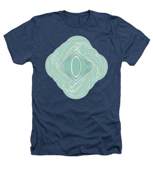 1920s Blue Deco Jazz Swing Monogram ...letter O Heathers T-Shirt