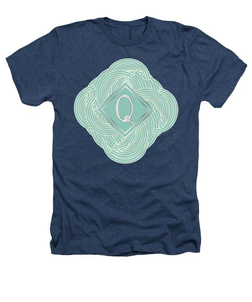 1920s Blue Deco Jazz Swing Monogram ...letter Q Heathers T-Shirt