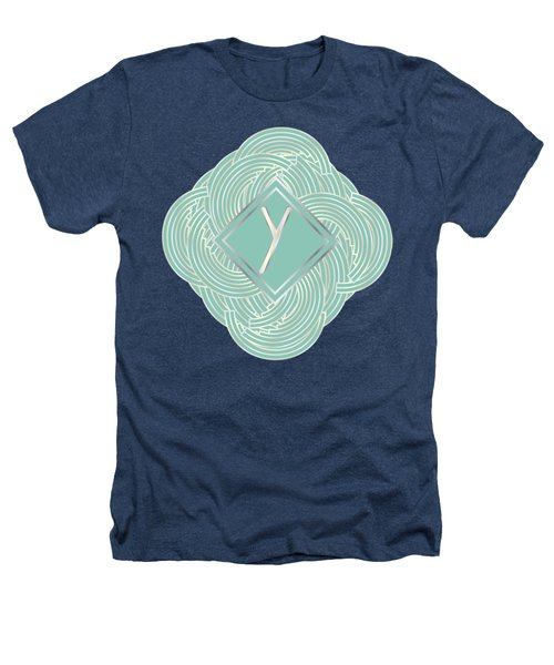 1920s Blue Deco Jazz Swing Monogram ...letter Y Heathers T-Shirt by Cecely Bloom