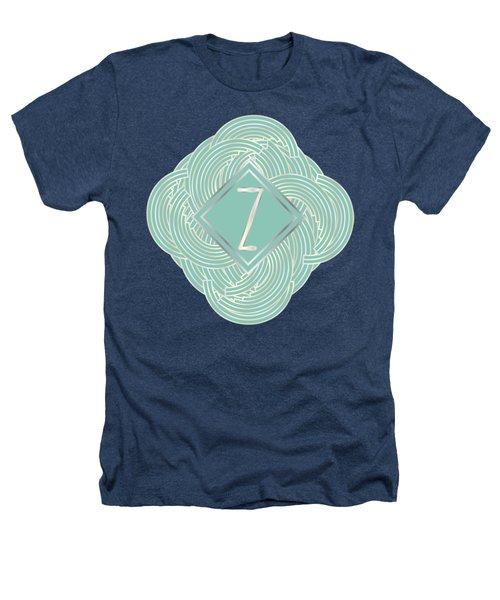 1920s Blue Deco Jazz Swing Monogram ...letter Z Heathers T-Shirt by Cecely Bloom