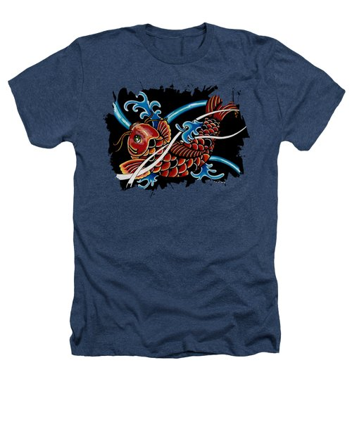 Asian Koi Heathers T-Shirt by Maria Arango