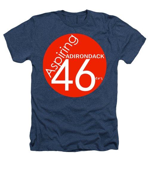 Aspiring Adirondack 46ers Trail Marker Heathers T-Shirt by Michael French