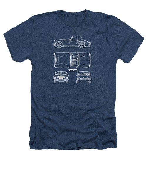 Austin Healey 100 Blueprint Heathers T-Shirt