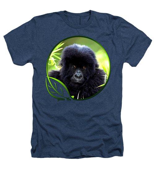 Baby Gorilla Heathers T-Shirt by Dan Pagisun
