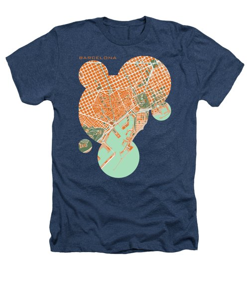 Barcelona Orange Heathers T-Shirt by Jasone Ayerbe- Javier R Recco