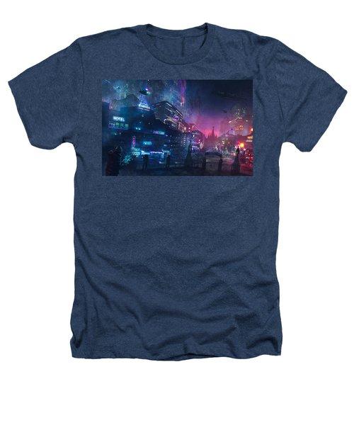 Barcelona Smoke And Neons Sant Pau I La Sagrada Familia Heathers T-Shirt