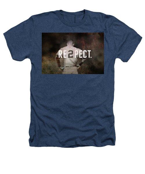 Baseball - Derek Jeter Heathers T-Shirt by Joann Vitali