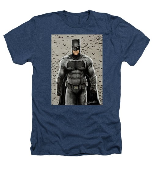 Batman Ben Affleck Heathers T-Shirt by David Dias