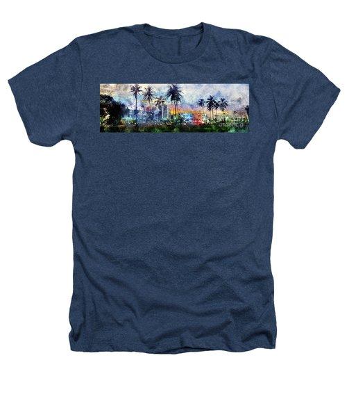 Beautiful South Beach Watercolor Heathers T-Shirt by Jon Neidert