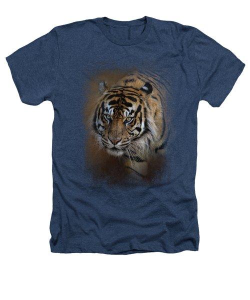 Bengal Stare Heathers T-Shirt by Jai Johnson