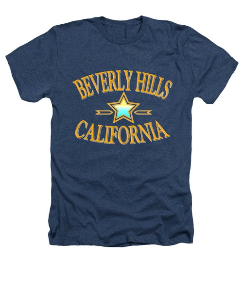 Beverly Hills California Star Design Heathers T-Shirt