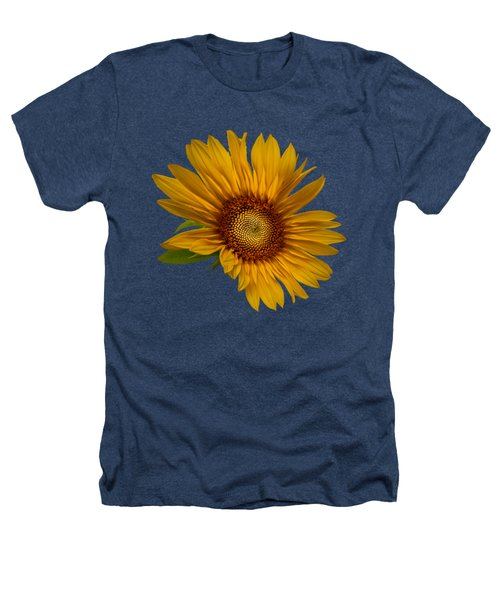 Big Sunflower Heathers T-Shirt by Debra and Dave Vanderlaan