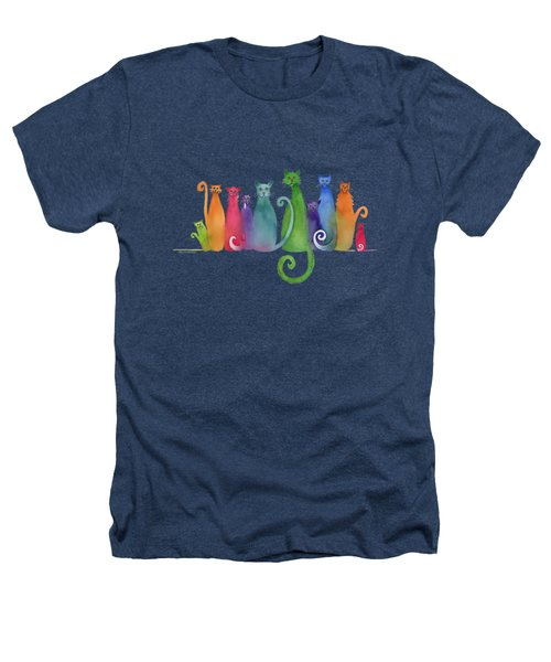 Blended Family Of Ten Heathers T-Shirt by Amy Kirkpatrick