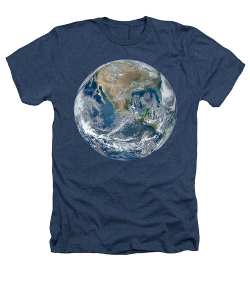 Blue Marble 2012 Planet Earth Heathers T-Shirt by Nikki Marie Smith