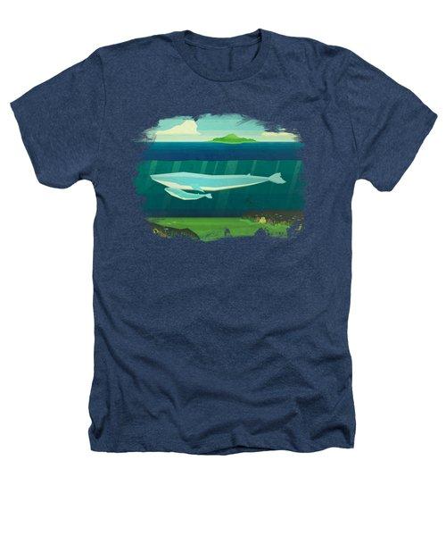 Blue Whale Heathers T-Shirt by David Ardil