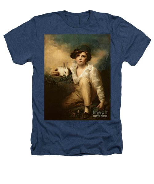 Boy And Rabbit Heathers T-Shirt by Sir Henry Raeburn
