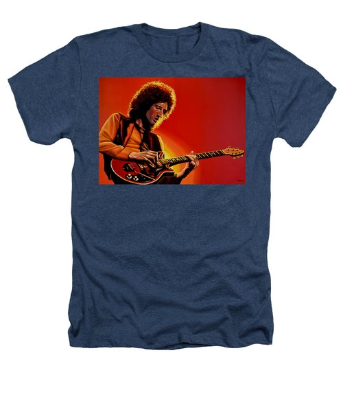 Brian May Of Queen Painting Heathers T-Shirt by Paul Meijering