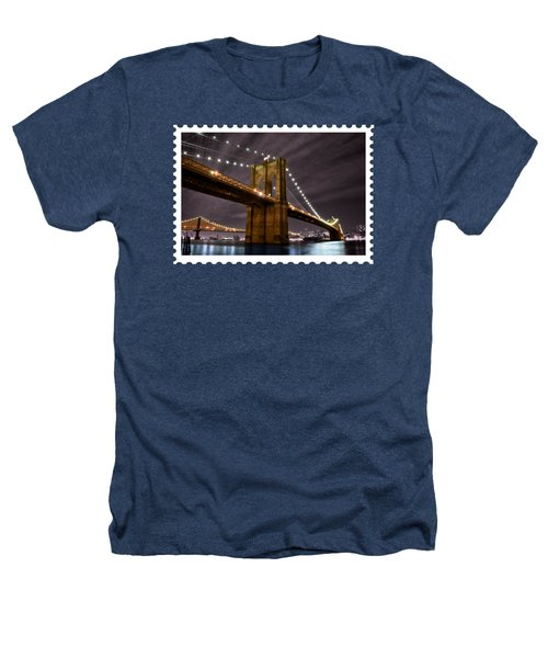 Brooklyn Bridge At Night New York City Heathers T-Shirt
