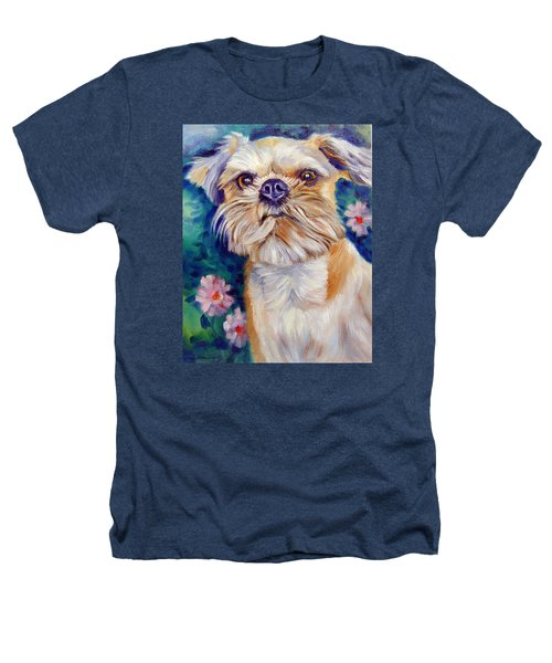 Brussels Griffon Heathers T-Shirt by Lyn Cook