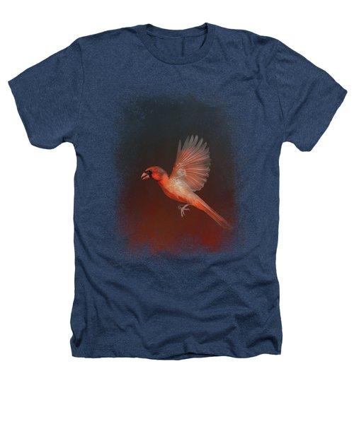 Cardinal 1 - I Wish I Could Fly Series Heathers T-Shirt by Jai Johnson