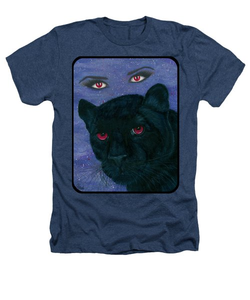 Carmilla - Black Panther Vampire Heathers T-Shirt by Carrie Hawks