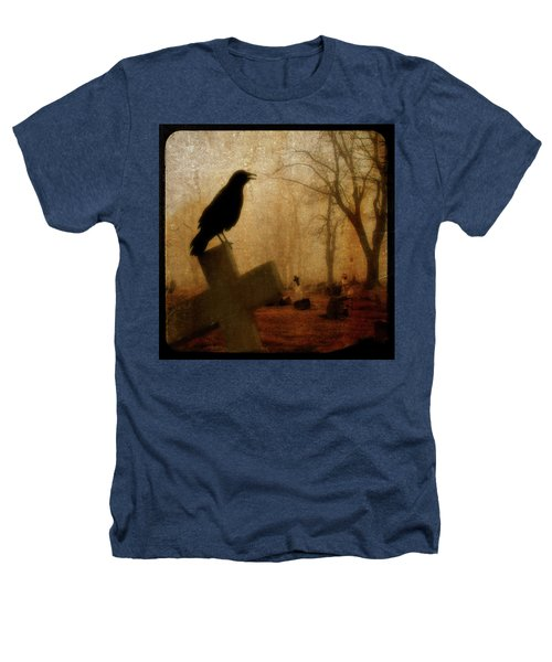 Cawing Night Crow Heathers T-Shirt
