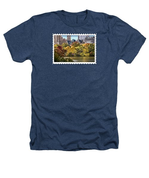 Central Park Lake In Fall Heathers T-Shirt by Elaine Plesser