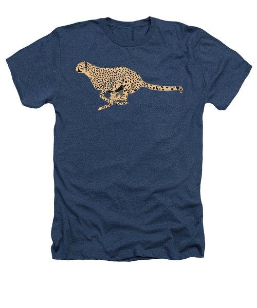 Cheetah Flash Heathers T-Shirt by Teresa  Peterson