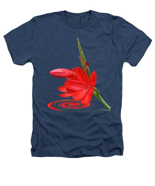 Chic - Ritzy Red Lily Heathers T-Shirt by Gill Billington