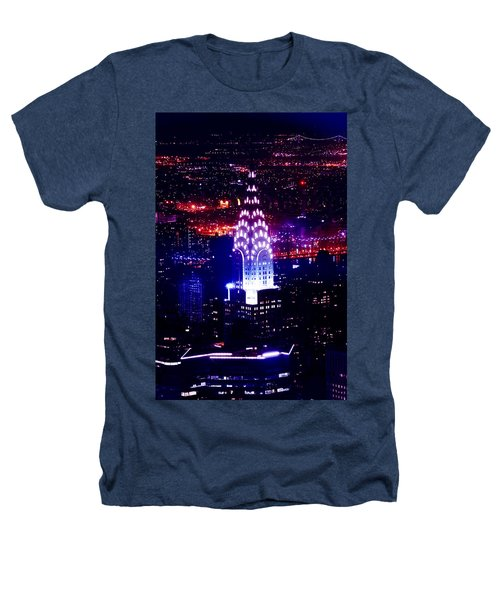 Chrysler Building At Night Heathers T-Shirt