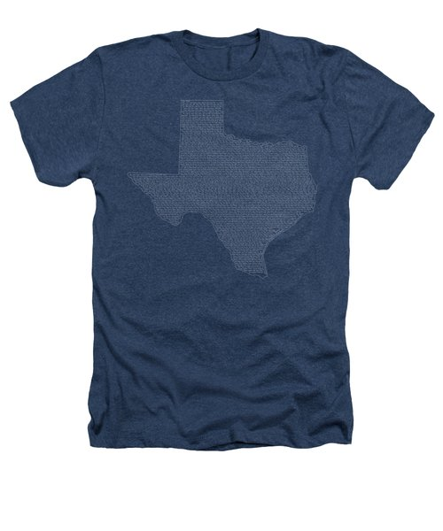 Cities And Towns In Texas White Heathers T-Shirt by Custom Home Fashions