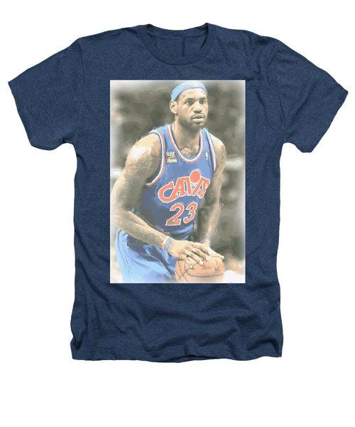 Cleveland Cavaliers Lebron James 1 Heathers T-Shirt by Joe Hamilton