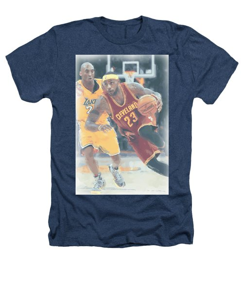 Cleveland Cavaliers Lebron James 3 Heathers T-Shirt by Joe Hamilton