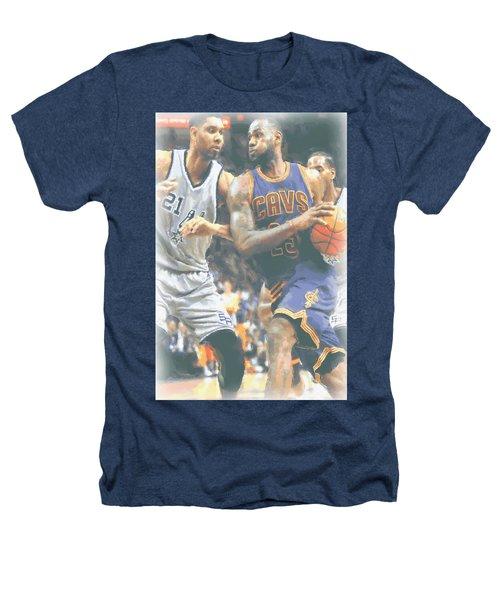 Cleveland Cavaliers Lebron James 4 Heathers T-Shirt by Joe Hamilton